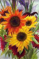 Sunflower Explosion Summer Garden Flag