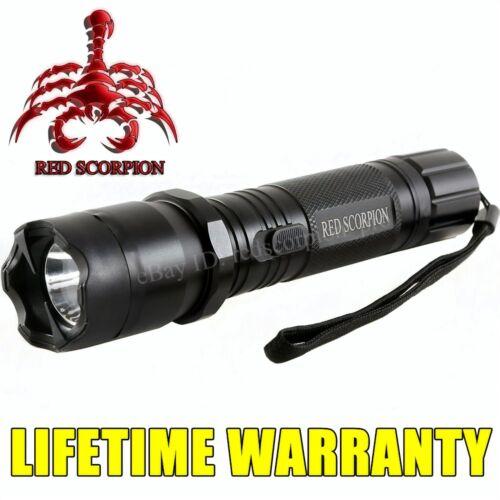 Red Scorpion 1101 Metal Stun Gun - 78 Billion Volt Alloy Rechargeable LED Light