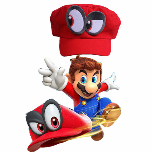 Cosplay Game Super Mario Odyssey Hat Adult Kids Red Mario Cap Props Handmade New