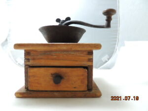 Antique Wood Wooden Coffee Mill / Grinder