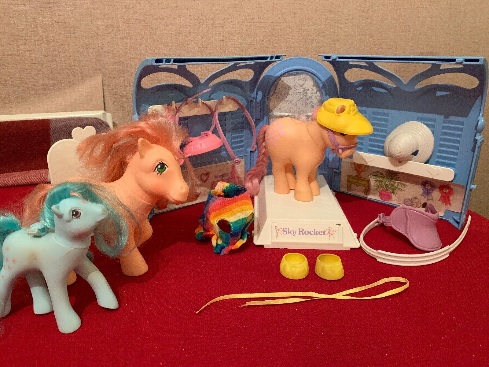 My Little Pony Vintage G1 1983 Pretty Parlour Set Peachy Peachy Peachy - Accessories + Others f50989