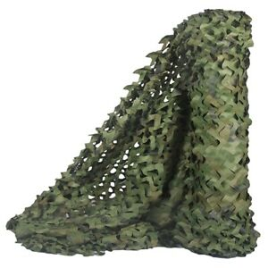 Hunting-Camouflage-Nets-Woodland-Camo-Netting-Blinds-Great-For-Sunshade-Cam-T7I2
