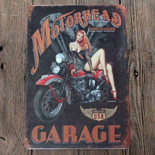 """Vintage Retro Zeichen Metall Dose Plakat Schild Wand Wohndekoration /""""Garage,"""