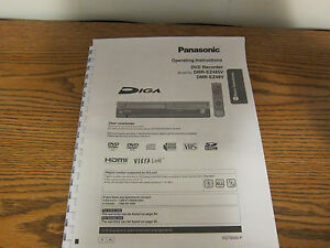 panasonic dmr ez475v dmr ez485v dmr es30 operating instructions user rh ebay com panasonic dmr-xw300 user manual panasonic dmr-ex99v user manual
