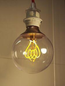 ikea led gl hbirne deko lampe e27 leuchte kolben birne retro gro industrielampe ebay. Black Bedroom Furniture Sets. Home Design Ideas