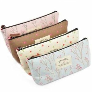 Fashion-Flower-Floral-Pencil-Pen-Case-Bag-Cosmetic-Makeup-Bag-Zipper-Purse