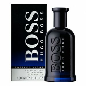 Parfum-HUGO-BOSS-BOTTLED-NIGHT-EDT-100ML-Neuf-et-sous-blister