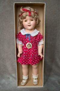 Vintage-Shirley-Temple-Composition-Doll-1930s-18-034-Very-Rare-Original-Box