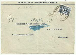 Briefumschlag Kolumbien 8071906 5c Blau Frankierung Auf Brief