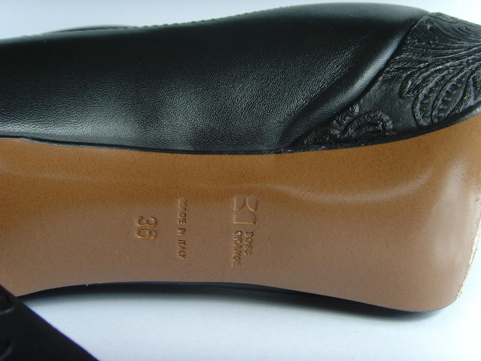Leder Plateau Pumps-Luxus Marke-Original HUGO BOSS ORANGE Italy- Gr.36 - w.NEU!
