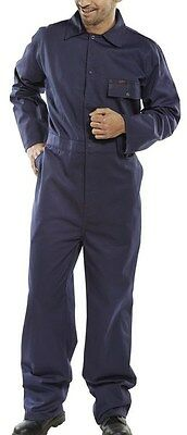 100/% cotton drill boilersuit overalls coveralls white various chest sizes