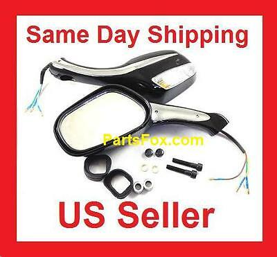 UNIVERSAL REAR View MIRRORs with Turn Signals 150cc 250cc SCOOTERS /& hardware