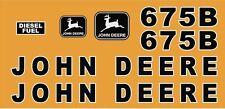 John Deere 675B skidsteer skid loader decal kit stickers JD