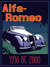 VINTAGE ALFA ROMEO Advertising Poster A3 RISTAMPA