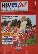 Programm 1992/93 HSV Hamburger SV - VfB Stuttgart