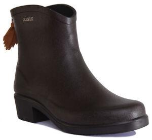 d032e6da77846 Image is loading Aigle-Miss-Juliette-Bottillon-Womens-Brown-Rubber-Boots-