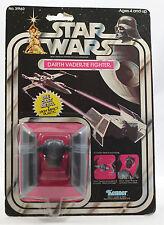 Vintage Star Wars Die Cast Darth Vader's TIE Fighter MOC Sealed 21 back Kenner