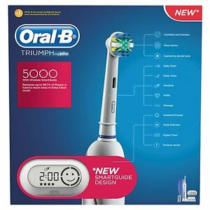 Image is loading Oral-B-Triumph-5000 -Electric-rechargeable-toothbrush-powered- feba15099b7ab