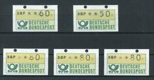 5-Stueck-BRD-ATM-postfrisch-Transportloch-geschlossen