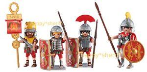 Playmobil-3-Romain-Soldats-et-Leader-Legionnaires-6490-6491-Addon-Figurines-Neuf