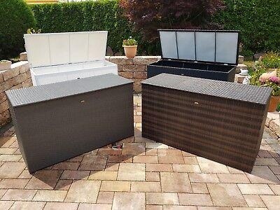 Auflagenbox Xxl 4 Farben 160cm Rattan Polyrattan Kissenbox Wasserdicht Ebay