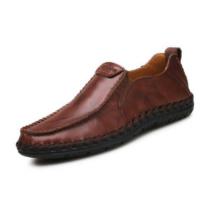 4bced369a1 Details about Mens Driving Flats Shoes Casual Cowhide Moccasins Slip On  Loafers Boat Shoes