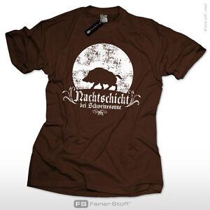 Jaeger-T-Shirt-Nachtschicht-bei-Schweinesonne-Geschenk-Jagd-Fun-Wildschwein