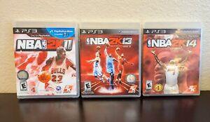 Lot-of-3-PS3-Basketball-Games-NBA-2K11-2K13-2K14-COMPLETE-CIB-TESTED-Playstation