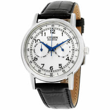 Citizen Eco-Drive Silver Dial Leather Strap Men's Watch AO9000-06B