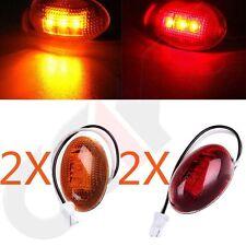 For 1999-2010 Ford F350 Amber/Red Side Fender Marker Dually Bed LED Light Kit YI