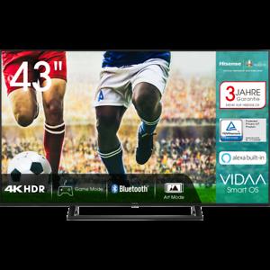 Hisense 43AE7200F 4K/UHD LED Fernseher 108 cm [43 Zoll] Smart TV HDR Schwarz
