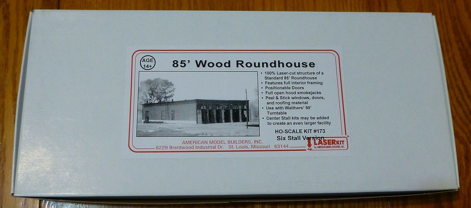 American modellolo Builders HO  173 Six Sttutti Version Roundhouse Kit Form