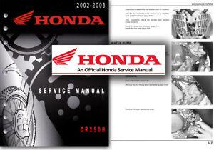 honda cr250r service workshop repair shop manual cr 250 r 2002 2003 rh ebay ie 2003 cr250 service manual pdf 2003 cr250 service manual free