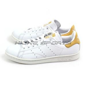 773b02130c89 Adidas Originals Stan Smith White White Raw Ochre Classic Lifestyle ...
