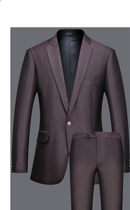 Elegante abito vestito completo   scuro scuro scuro giacca pantalone  SLIM 1027 0b1865