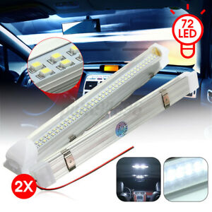 2x-12V-LED-Interior-Lights-Bar-lighting-Strip-Lamp-Universal-Cabin-Caravan-Van