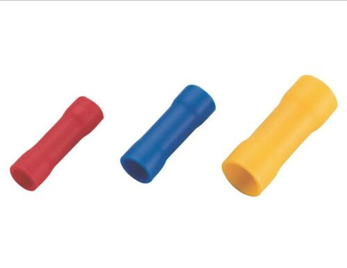Straight butt terminal Red Blue Yellow connector parallel electrical crimp wire