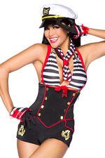 Sexy Damen Marine Matrosin Karneval Kostüm GoGo MiNiKlEid Gr. S M 36-38 NEU #127