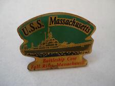 PINS USS MASSACHUSETTS Cuirassé US NAVY / SOUTH DAKOTA ARMY