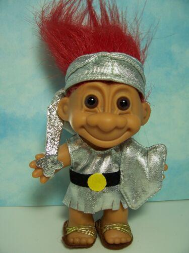 "GLADIATOR KNIGHT NEW IN ORIGINAL WRAPPER SPARTAN 5/"" Russ Troll Doll"
