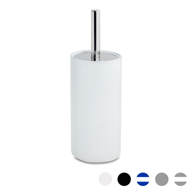 Toilet Brush Holder Toilet Brush Stainless Steel with White MG of Beautiful Beck Design