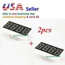 2pcs 4 Digit Red 7 Segment Led Display Digital Tube Common Anode 12 Pins Arduino