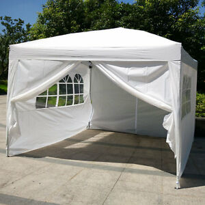 10 X10 Ez Pop Up Wedding Party Tent Folding Gazebo Canopy