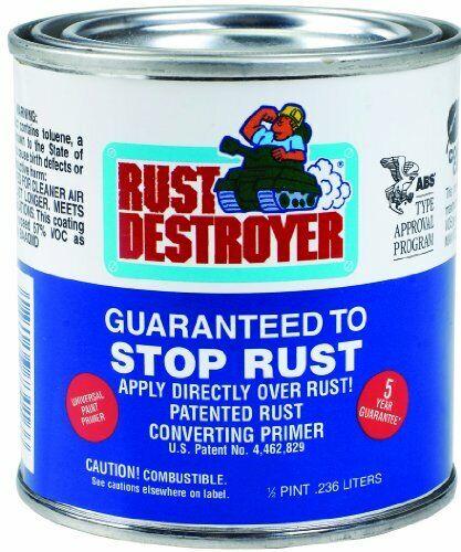 Rust Destroyer 1//2 Pint Universal Base Rust Converting Paint Primer