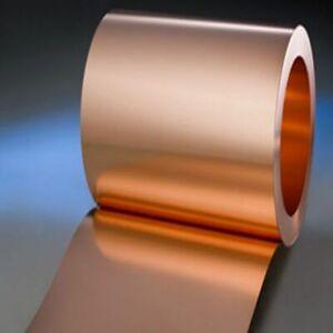 Copper Sheet Strip 0.3mm 30mm wide Flexible Pure Copper C101 Sheet 500mm 1000mm
