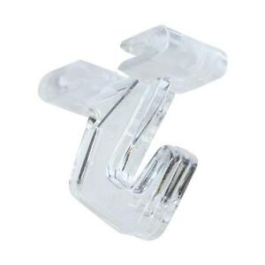 Details About 5 Pk Clear Plastic Snap On 15 Track Suspended Ceiling Hook 2 N275156