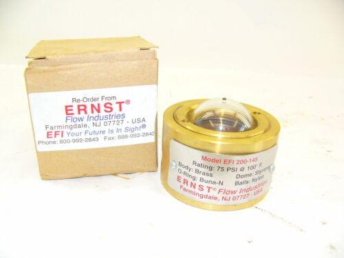 F172 ERNST FLOW INDUSTRIES EFI 200-145 1//4 BRASS  NEW!!