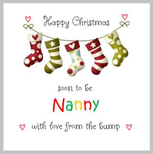 De la Bosse Happy joyeux Noël Carte qui sera bientôt Nanny Mamie Nan pour être
