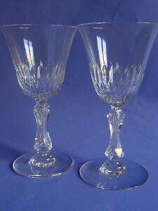 2 Anciens Verres A Eau En Cristal De Saint Louis Modele Lozere Ht 17 Cm