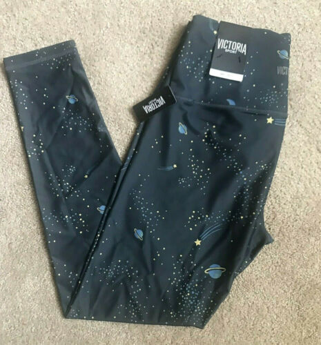 Victoria/'s Secret VSX SPORT 7//8 TIGHT Leggings Night Sky Print Dark Gray NWT